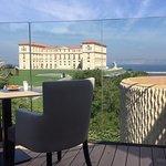 Vue depuis la terrasse des petits-déjeuners