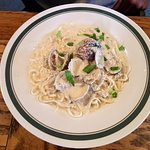 The Perch Restaurant Pasta with White Sauce and Clams