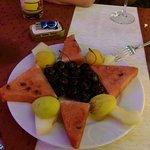 complimentary fruit platter