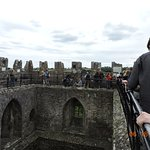 Top of castle, center of back wall is where you kiss the Blarney Stone