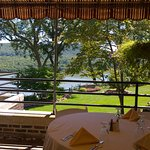 A view of the Hudson River on the veranda of MacArthur Riverview Restaurant