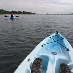 Aurora Reservoir is a great place to learn how to kayak. The water is calm and clear.