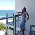 My Wife on the balcony