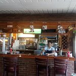 Honduras bandeja, inside restaurant