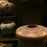 Some of the pottery on exhibit