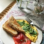 Spinach Frittata with Fresh Tomatoes