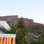 The view of Table Mountain from our terrace