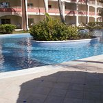 Pool with Hotel rooms in background