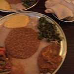Delicious vegetarian platter