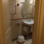 bathroom on second floor of suite