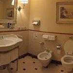 bathroom on first floor of suite