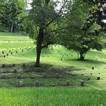 This is the Union Cemetery and is a tiny portion of the graves