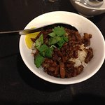 small rice bowl with pork