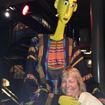 A Mali puppet and my wife