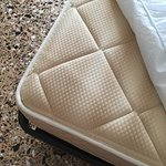 Clean mattress, mattress protector and comfy pillows
