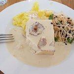 main course: pike-crab terrine & potato cake