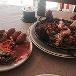 Mixed Paella and the medium mixed tapas plate