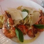 Linguinis gambas coquille st Jacques