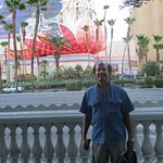 View from across the Vegas Boulevard.