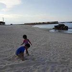 My young kids were playing and running around the fine white sand!