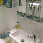 Newly refurbished bathroom was smart and spotlessly clean.