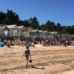 Beach huts and wonderful sand