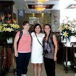 Encuentro con Camila en nuestro hotel de Hanoi.