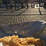 Fish and chips on the quay.