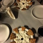 The tzatziki and feta dips, which are delicious!