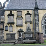 Greyfriars church with tombs