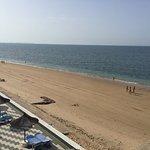 Terraza exterior a la playa