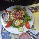 Salade de chèvre chaud, servi sans huître !