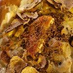 gratin de ravioles au chèvre et truffe d'été...... un pur moment de bonheur