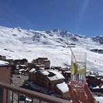 G&T from hotel terrace after a good day on the slopes