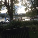 From the Waterhead to the Langdales late evening .