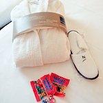 Peignoirs et chaussons en chambre exécutive
