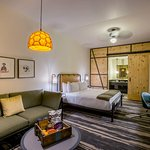 Guest room features at Cavalry Court