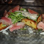 beef with rocket and Parmesan