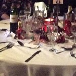 Xmas Lunch - no flowers, gold charger plates, napkin rings etc as shown in your brochure??