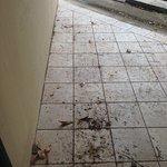 """Vista del """"balcon"""" de la habitación, se nota que nunca se les ocurrió barrer ni limpiar"""
