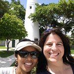 my and my best friend at lighthouse