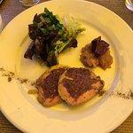 Entrée foie gras/boudin noir