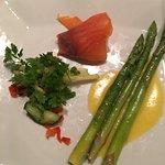 Fresh Asparagus with Smoked Salmon