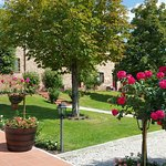 Piękna zieleń i kwiaty borgo