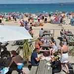 Porthminster beach from the lovely beach cafe, taken in July 2016