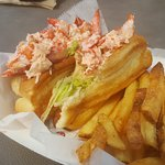 Twin lobster rolls at Easton Beach snack bar