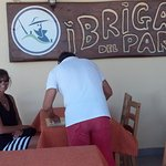 Johnny provides wonderful customer services , vino and food at I Briganti Parco!