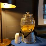 Welcoming and refreshing lemon water in the lobby