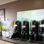 Starbucks coffee and Tazo Tea in the lobby