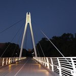 Walk bridge in the night